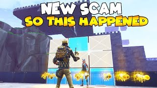 So I Did a NEW SCAM and This HAPPENED! 😱 Must Watch (Scammer Gets Scammed) Fortnite Save The World