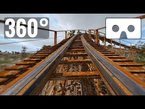 VR Video 360 Wooden Roller Coaster 360° Virtual Reality PSVR
