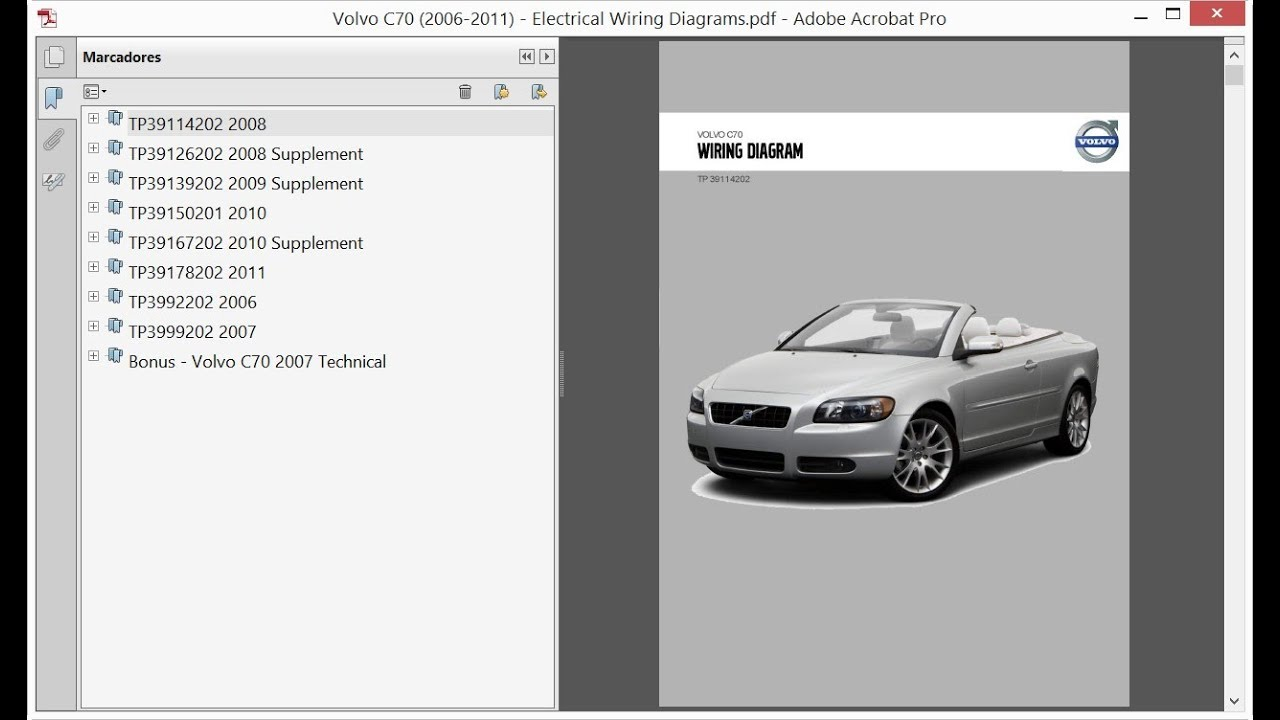 Volvo C70 (2006-2011) - Electrical Wiring Diagrams - YouTube | Volvo Wiring Diagrams C70 |  | YouTube