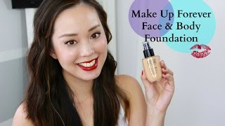 Make Up Forever Face & Body Foundation Review, makeup, foundation, beauty, reviews,