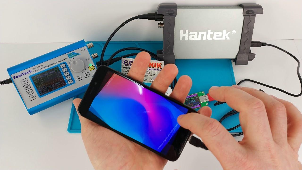 HScope Android dla oscyloskopów cyfrowych Hantek6022BE Hantek1008BC