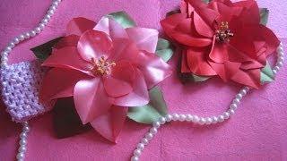 DIY Цветок Канзаши