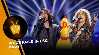 WORST VOICE FAILS IN EUROVISION - Part 1