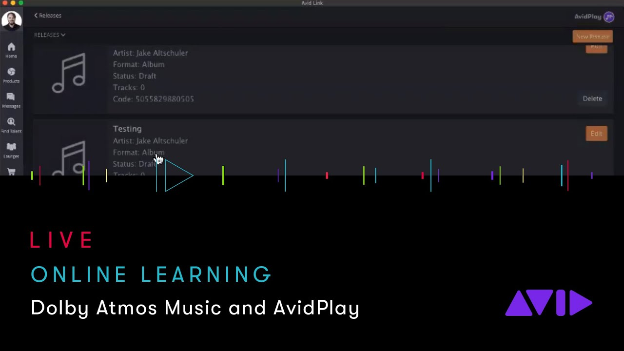Avid Online Learning — Dolby Atmos Music & AvidPlay: Music Distribution Made Easy