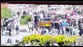 Ankara'daki patlama anı güvenlik kamerasında