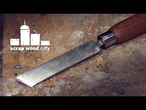 DIY skew woodturning chisel from an old file