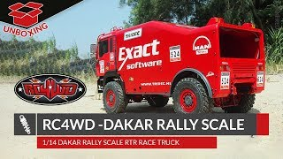 UNBOXING: RC4WD DAKAR RALLY SCALE RTR RACE TRUCK 1/14 [English / FullHD]