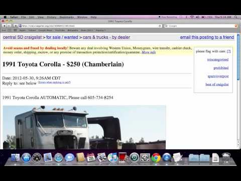 Craigslist South Dakota Used Cars For Sale By Owner Youtube