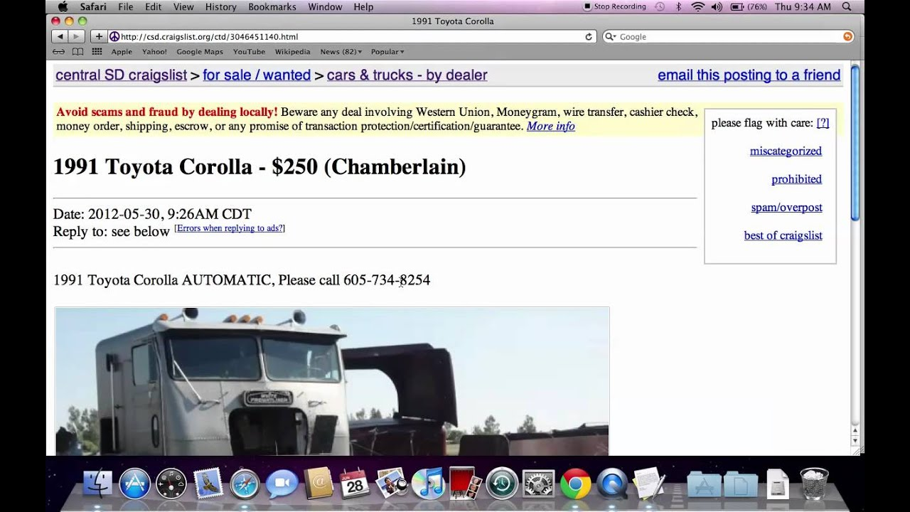 Craigslist pierre sd used cars trucks vans and suvs available in july 2012 youtube