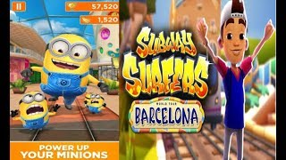 DESPICABLE ME: MINION RUSH VS SUBWAY SURFERS - Running Games - Kids video gameplay HD