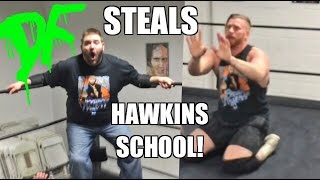 grim steals wrestling school point of view camera in ring tag team match