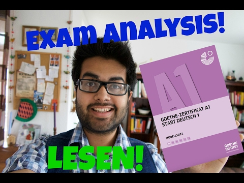 Goethe Zertifikat A1 (Lesen) :Start Deutsch 1|| Exam Analysis and