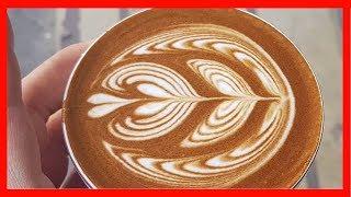 Cappuccino Latte Art 2019 - Coffee Art Tutorial - Flat White Barista Compilation - Coffee Artist