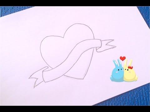 ❤Как просто и быстро нарисовать сердце.❤