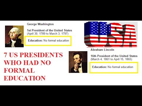 7 US Presidents who had No Formal Education! American Presidential History Videos