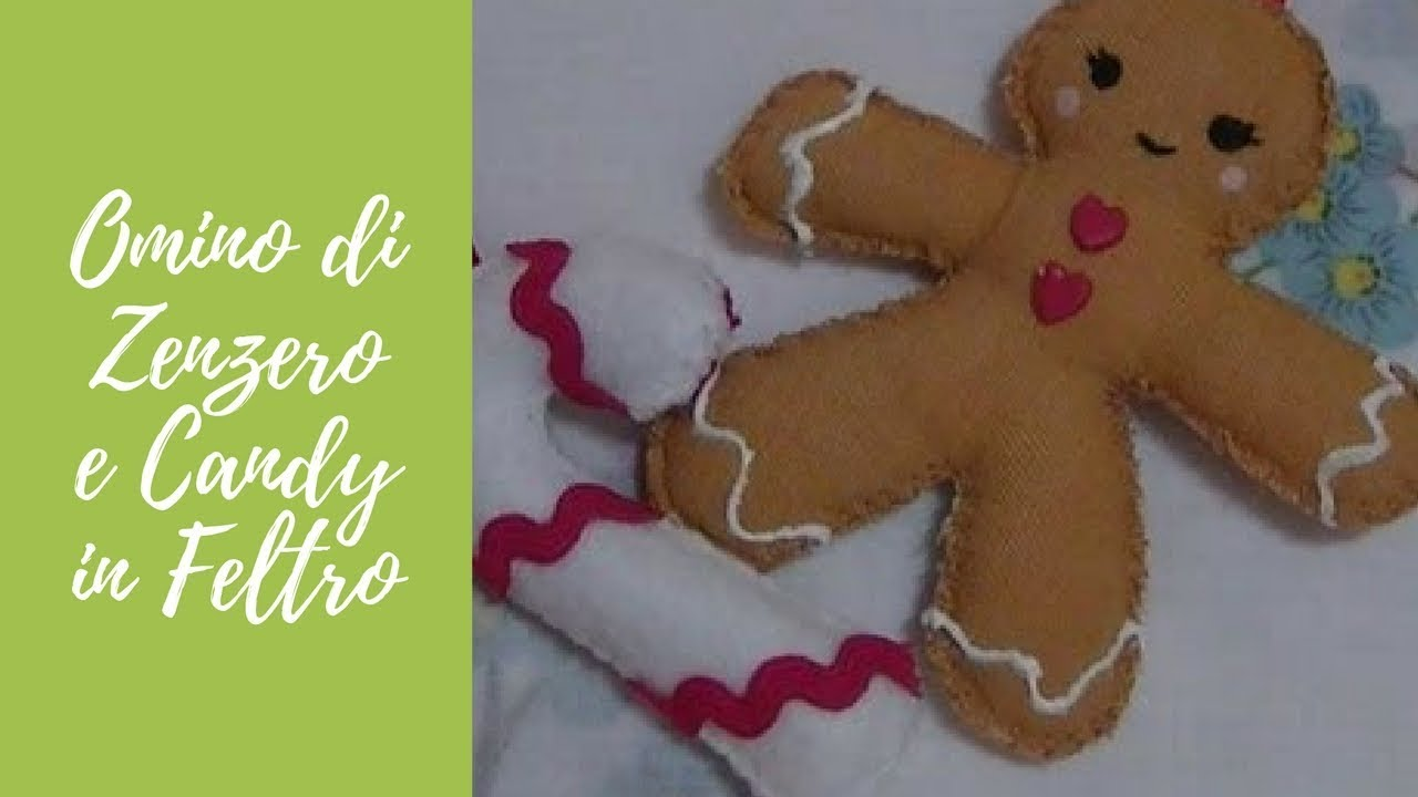Tutorial: Gingerbread e candy in tessuto e pannolenci ...