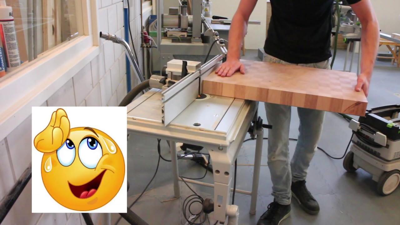 Spiksplinternieuw Het maken van een snijplank - YouTube FZ-12