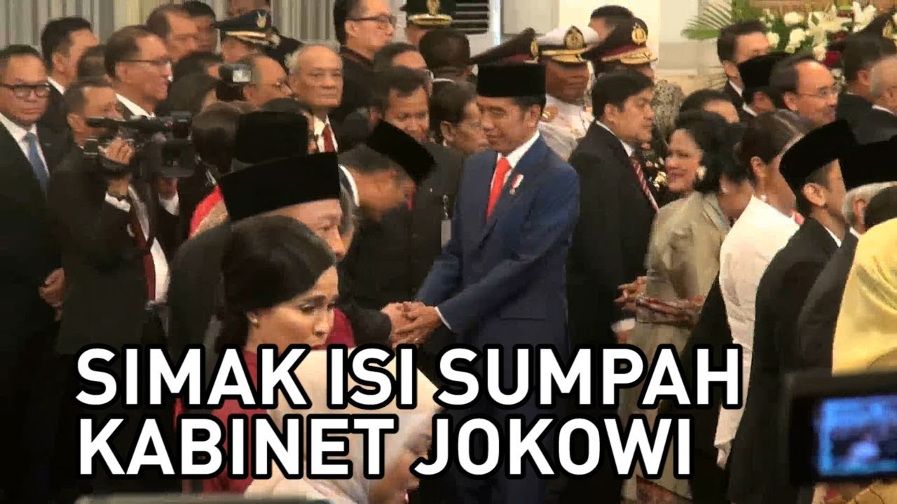 Isi Sumpah Jabatan Menteri Kabinet Indonesia Maju
