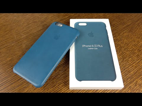 save off 132bb aa14c Official Apple iPhone Marine Blue Leather Case
