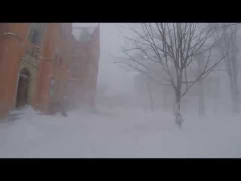Bowdoin College in Winter Storm Juno