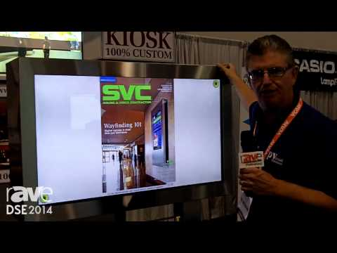 DSE 2014:  rp Visual Solutions Demos Fully Custom Interactive Touch Kiosk
