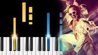 "Elton John, Taron Egerton - (I'm Gonna) Love Me Again - Piano Tutorial & Sheets - from ""Rocketman"""