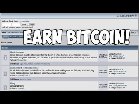 Earning Bitcoin From Posting On BITCOINTALK Forums!