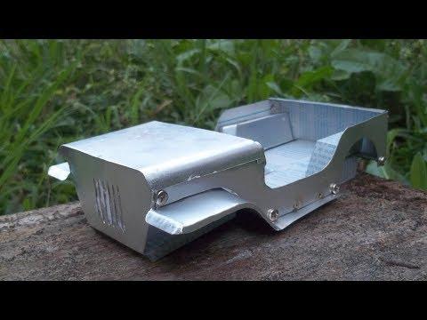 Jeep Miniatura E Motor Stirling Em Construção! Stirling Engine And Miniature Jeep, Construction!