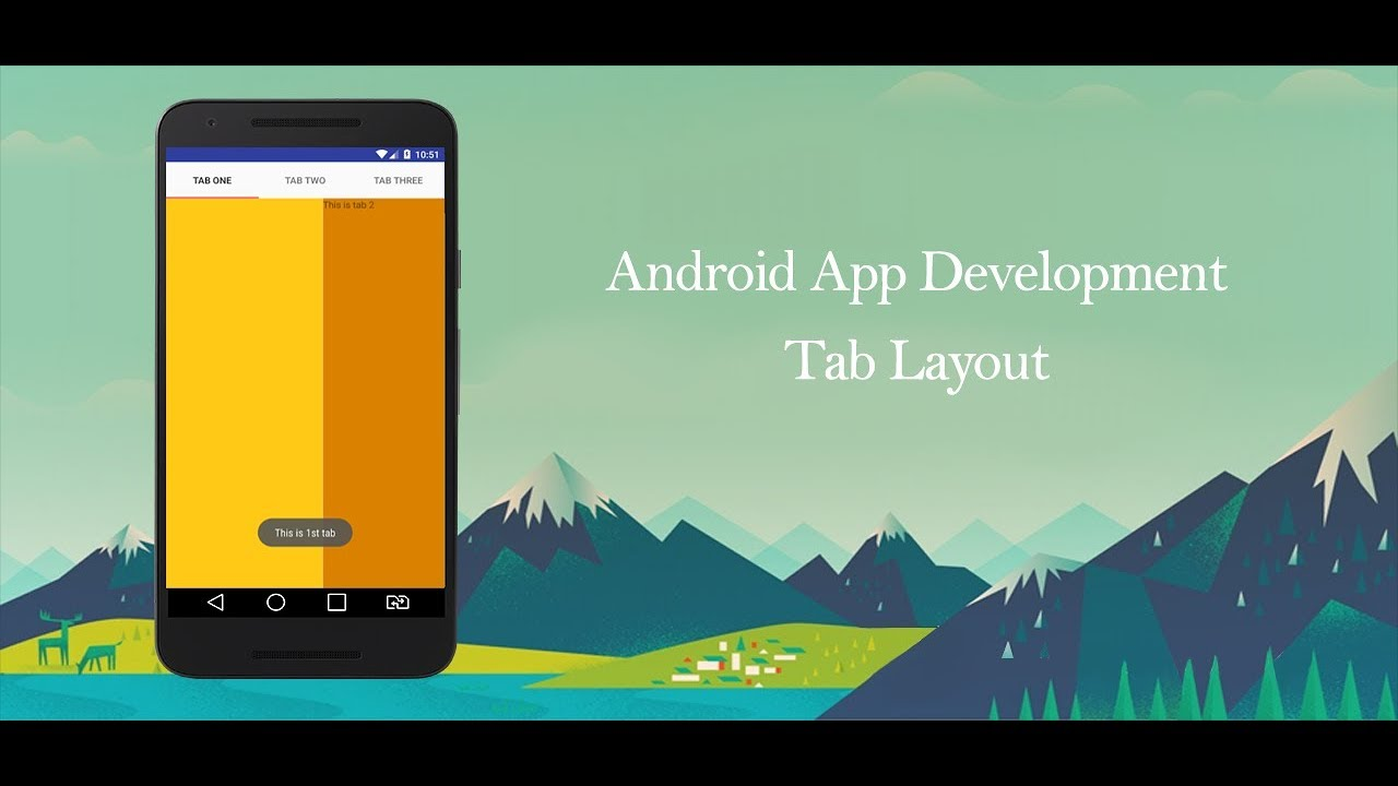 Android Development Tutorial - Tab Layout and Custom Animation