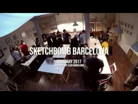 SketchBomb Barcelona Feb 2017 | Art Meetup Event