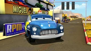NYPD Police Chase Lightning McQueen VS Francesco Bernoulli Disney Pixar Cars Racing Gameplay