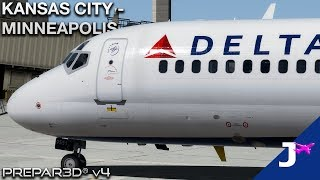 [Prepar3D v4.4] Incompetent fool attempts to fly the 717 | Kansas City - Minneapolis
