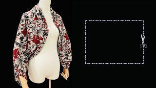 ⭐️ Very easy Rectangle cape cutting and stitching | Even a beginner can make this cape
