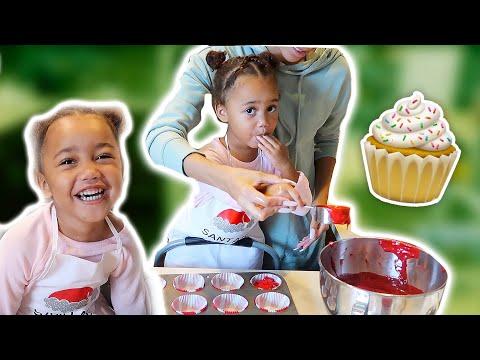 YIKES! 2 Year Old Bakes Cupcakes! | Vlogmas Ep. 5