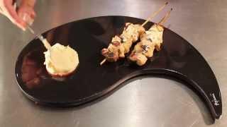 Receta Kebab de Pollo con Tahine