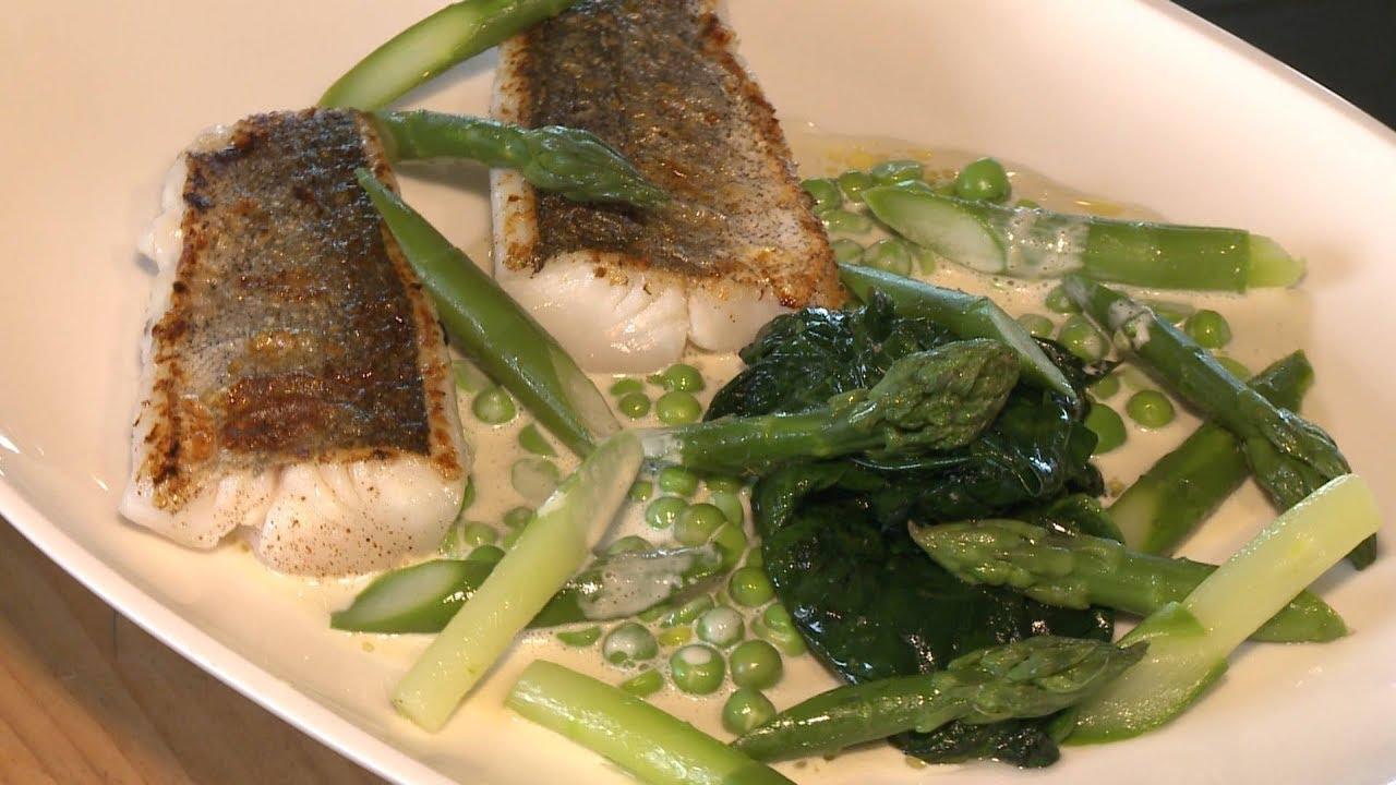Recette : merlu landais et ses légumes verts