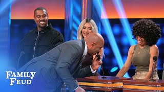 You can say THAT again, Kim! | Celebrity Family Feud