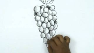 How to Draw a Cartoon Grapes