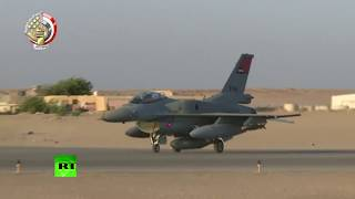 Egyptian fighter jets take to skies to conduct strikes against 'terrorist camps' in Libya thumbnail