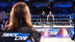 Styles accepts a challenge from Owens & Zayn for back-to-back matches: SmackDown LIVE, Jan. 23, 2018