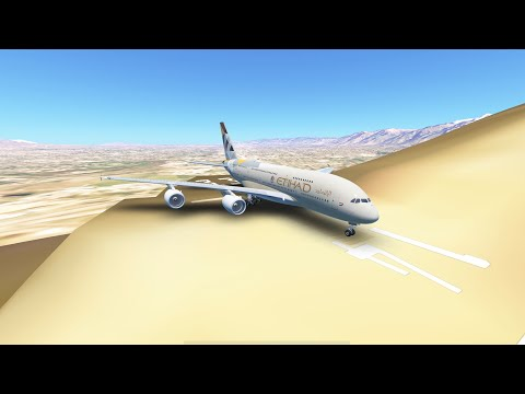 Huge Planes Landing On The Weirdest Runway