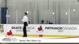 2016 Skate Canada Challenge Senior Men Warm-Up with Kevin Reynolds