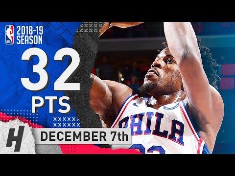 Jimmy Butler Full Highlights 76ers vs Pistons 2018.12.07 - 32 Pts, 6 Ast, 6 Rebounds!