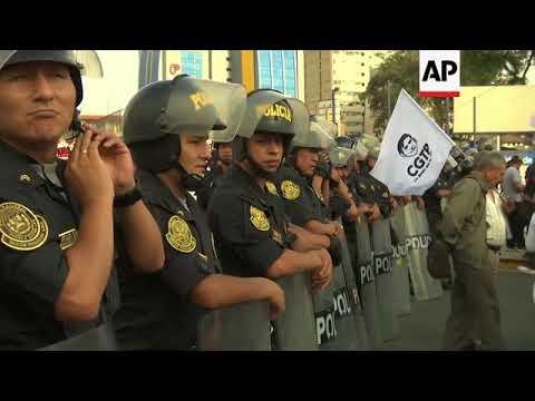 Thousands protest in Lima against Fujimori's pardon