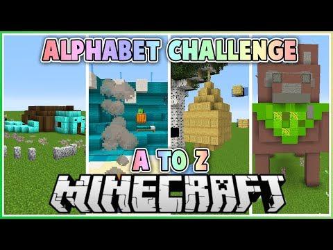 Building in Alphabetical Block Order in Minecraft!