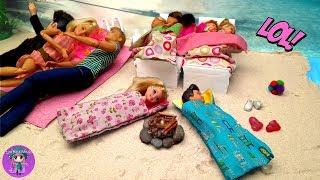 LOCA fiesta de PIJAMAS en la PLAYA con Barbie y Ken 🦄 Videos de Barbie y Ladybug - JJ