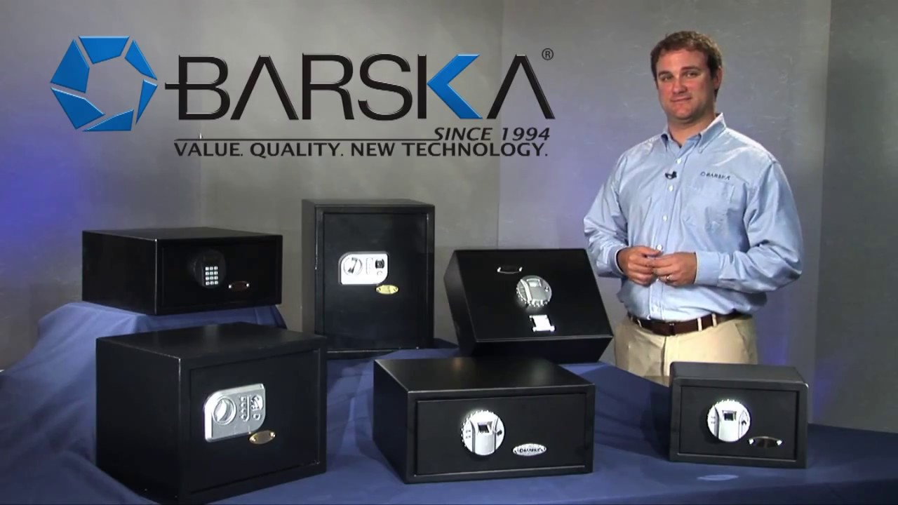 barska top opening biometric fingerprint safe