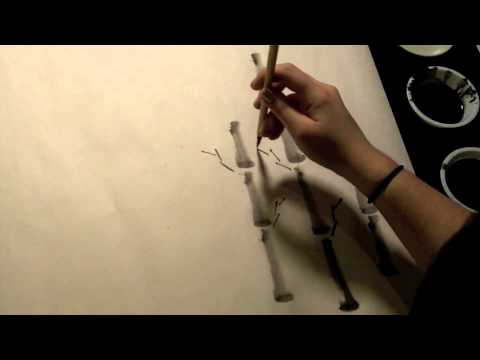 Chinese Brush Painting Bamboo For Beginner Students