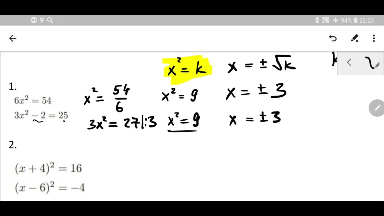 simplest form quadratic equations  GCSE Maths Revision | Quadratic equations in the simplest form | Quadratic  equations how to solve