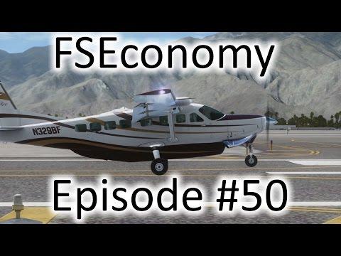 FSX | FSEconomy - Ep. #50 - San Diego to Palm Springs | C-208B Grand Caravan
